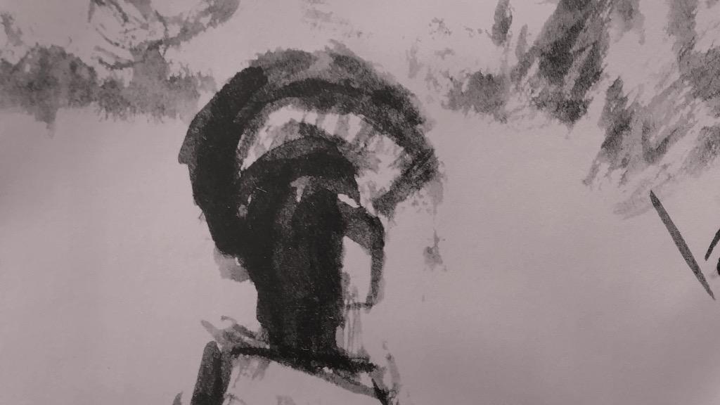 Skizze zu Achill und Priamos von Heinz Rose