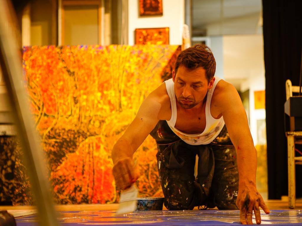 Jan Davidoff im Atelier