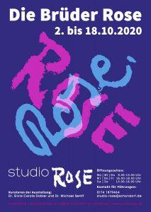 """Flyer zur Ausstellung """"Die Brüder Rose"""""""
