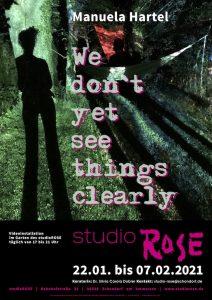 Plakat Manuela Hartel im studioRose, Schondorf am Ammersee