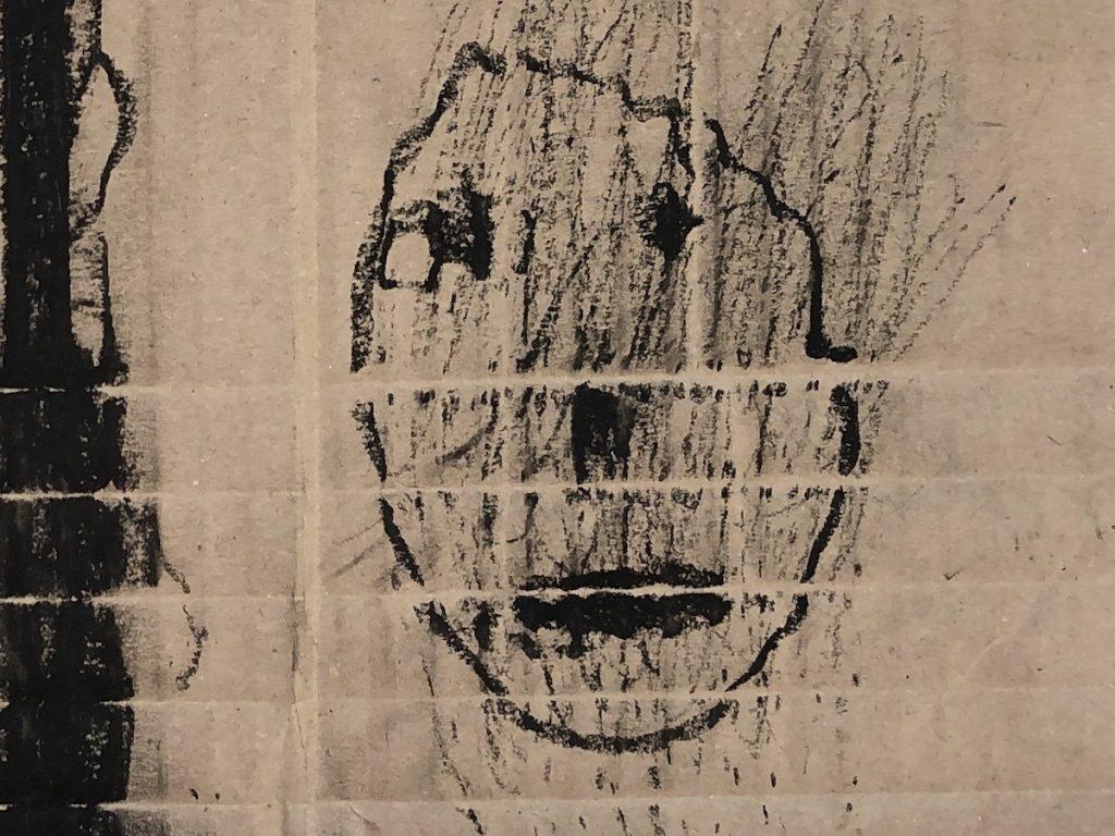 Zeichnung: Der Höhlenmensch